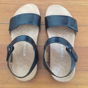 Sandals   Bionic.  Black. Size 10 wide.  From QVC